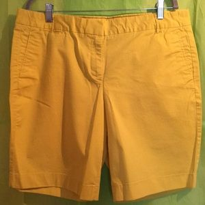 j.Crew Stretch Slimmer Weigh Chino Shorts Sz 14